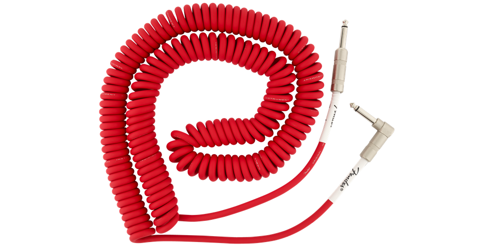 fender original coil cable 9m red