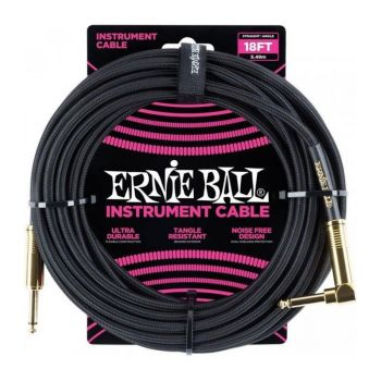 Ernie Ball 6086 Cable Instrumento Jack a Jack 4,57 Mt Conector Gold