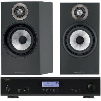 ROTEL A-11 Black + BW 607 Black conjunto audio