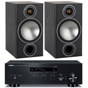 Yamaha RN-303D Black+Monitor Audio Bronze 2 Black Conjunto Sonido