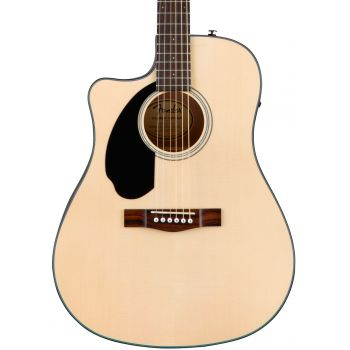 Fender CD-60SCE Natural LH. Guitarra Acústica para Zurdos