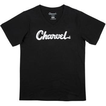 Charvel T-Shirt para Mujer Logo Black Talla S