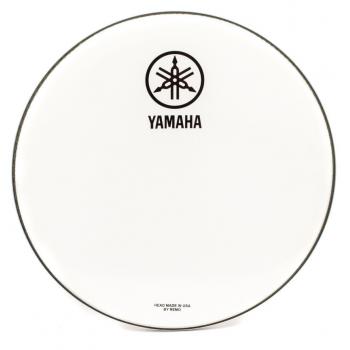 Yamaha Parche Resonante Blanco Logo Nuevo 24