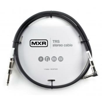 Mxr DCIST03R Jack-Jack Acodado Stereo Trs Cable Para Instrumento 0.90 Cm