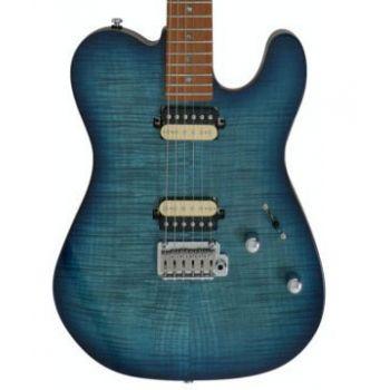 Larry Carlton by Sire T7 FM Guitarra Eléctrica Transparent Blue