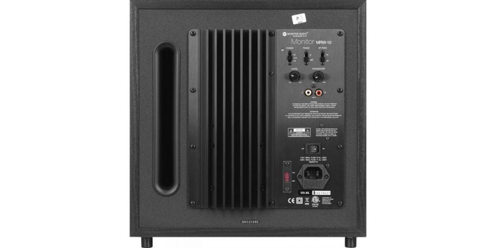 monitor audio mrw10 conexiones