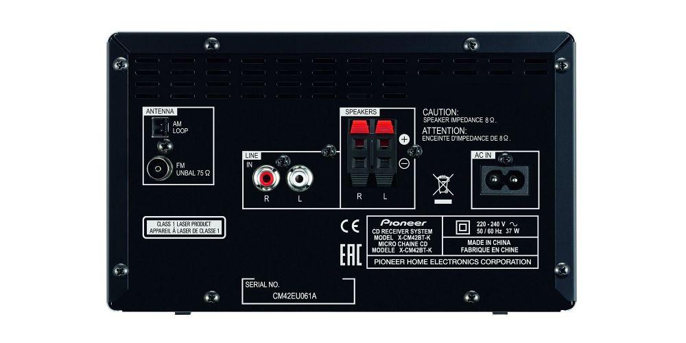 pioneer xcm42bt blanco rojo azul negro conexiones bluetooth