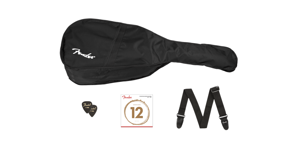 fender fa 115 dreadnought pack v2 natural bolsa