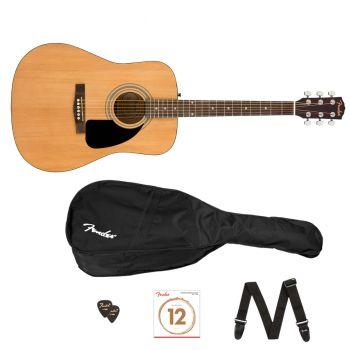Fender FA-115 Pack V2 Natural. Guitarra Acústica + Funda + Correa + Accesorios