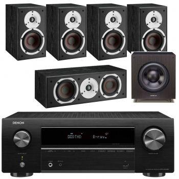 DENON AVR-X550 BK+Dali Spektor 1 Cinema Pack 5.0 Black+SX 120 BK