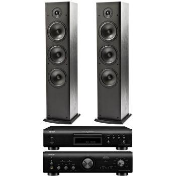 Denon PMA-800AE Black+DCD800+Polk Audio T 50. Sistema 800/T50  Conjunto Sonido