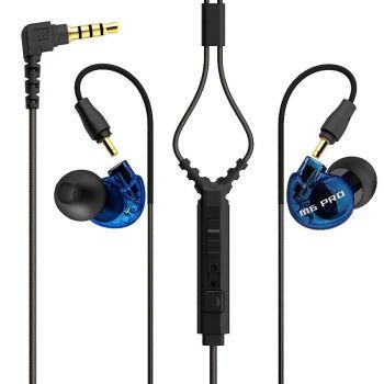 Mee Audio M6 PRO Blue, Auriculares In Ear deportivos con micrófono Azul,