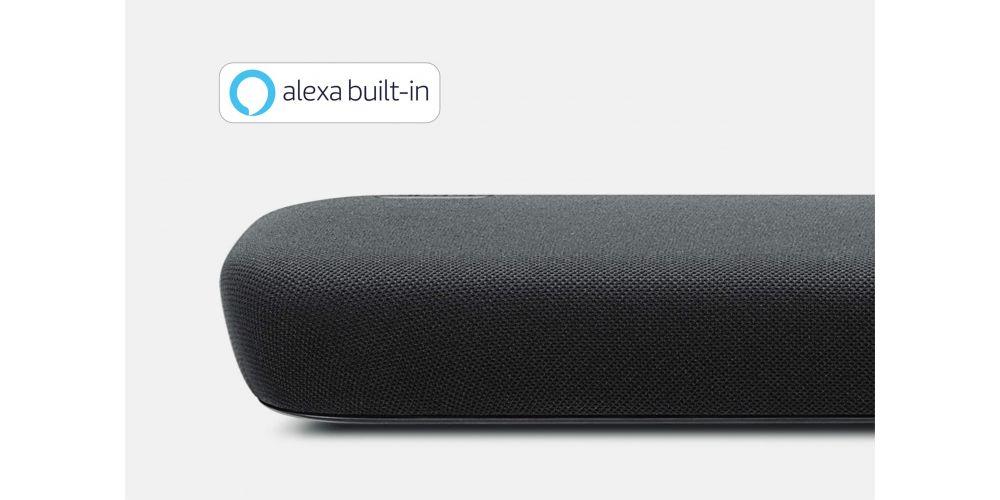 Yamaha 109 Barra sonido diseño minimalista control voz Alexa Bluetooth