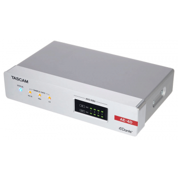 Tascam AE-4D Convertidor AES/EBU-Dante de 4 Canales con Mezclador DSP