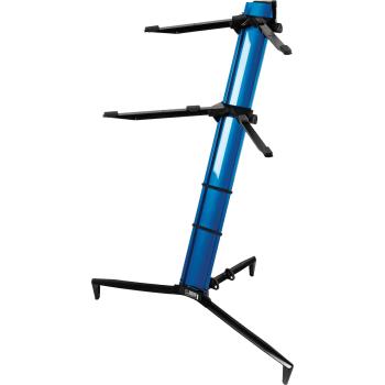 Quik Lok SL913 Metalic Blue Soporte de Teclado Con Funda
