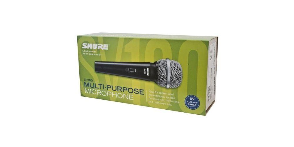 Shure SV100 packaging