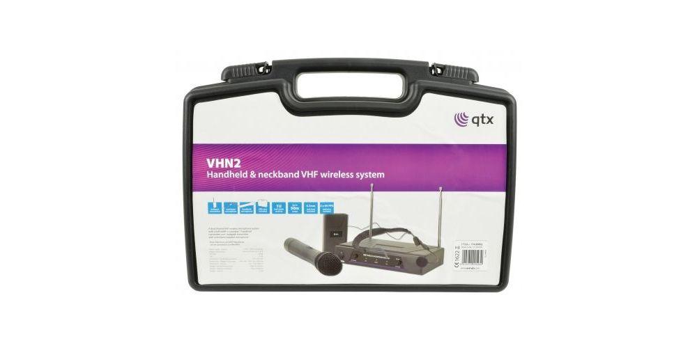 qtx vhn2 microfono doble inalambrico
