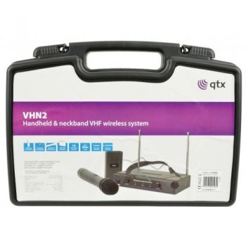 QTX VHN2 Microfono Inalambrico Doble de Mano y Diadema