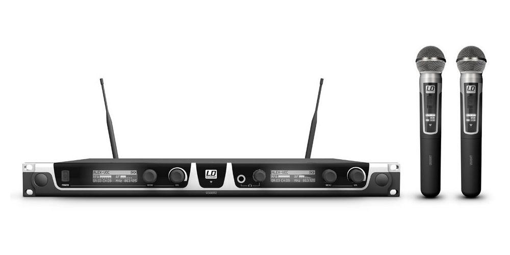 LD SYTEMS U508 HHD 2 Sistema inalámbrico con 2 Micrófonos de Mano