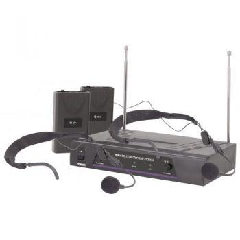 QTX VN2 Microfono Inalambrico Doble de Diadema 171818