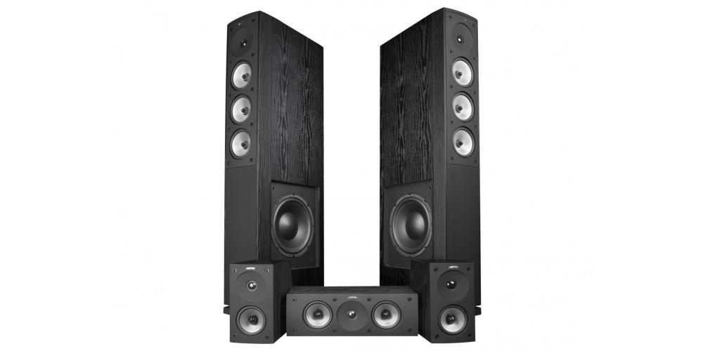 JAMO S628 HCS BLACK ASH SET