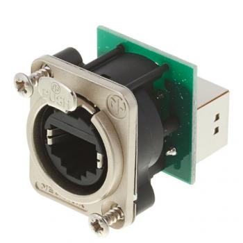 Neutrik NE8 FDP Conector chasis RJ45 pasamuros