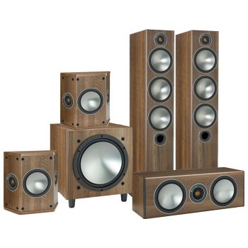 MONITOR AUDIO Bronze 6-AV POWER Walnut,  BRONZE6+BRONZE CENTER + BRONZE FX+W10