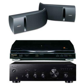 Pioneer A-10K+PL990+Bose161 Black