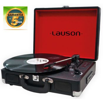Lauson CL 603 Black  Tocadiscos Vintage USB Bluetooth