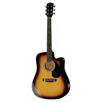 Fender Squier SA-105CE Dreadnought Cutaway Sunburst