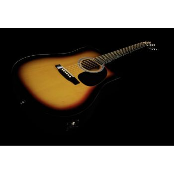 Fender Squier SA-105CE Sunburst. Guitarra Acústica