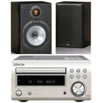 DENON RCDM-41 Silver+Monitor Audio MR1 Black