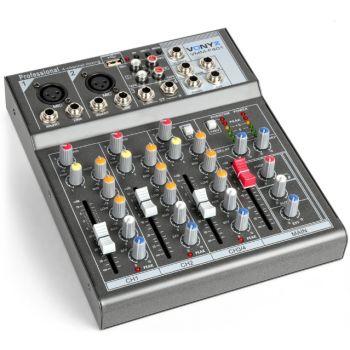 Vonyx VMM-F401 Mezclador Musicos 4 canales 172575