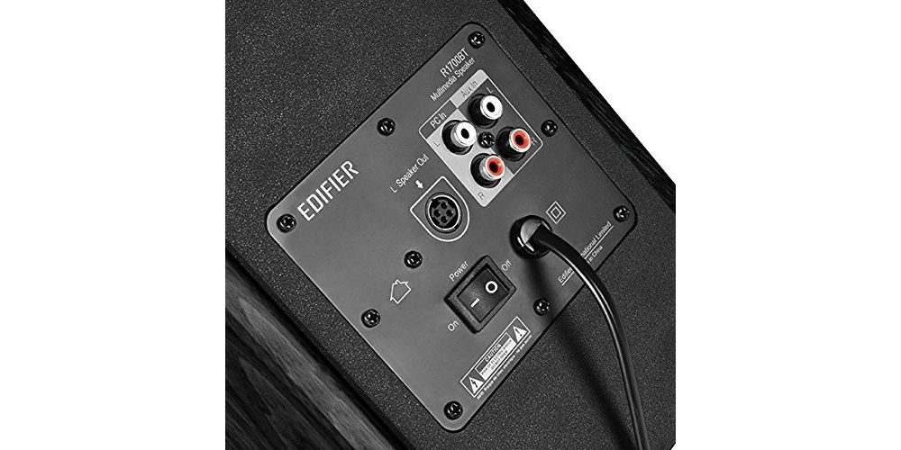 Edifier R1700BT black altavoz estanteria bluetooth tapa mando altavoz conexiones