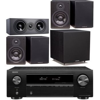 DENON Equipo AV AVR-X250BT + Cambridge Audio SX50 Cinema Pack Altavoces Home Cinema
