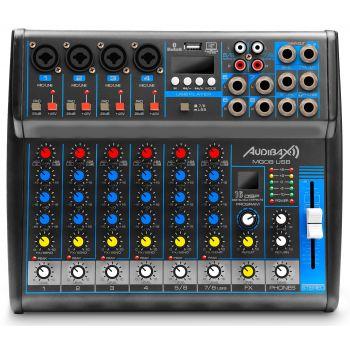 Audibax MG08 USB, Mesa Mezclas 8 canales con Bluetooth, MP3 , USB Rec y EFECTOS ( REACONDICIONADO )