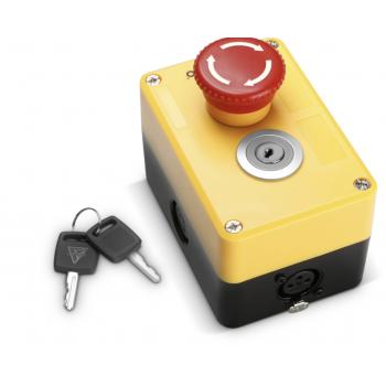 Cameo EKS XLR Interruptor de parada de emergencia con llave de control