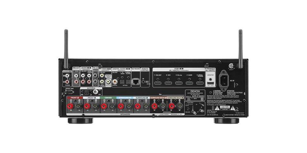 DENON Equipo AV AVR X1600H receptor audio conexiones