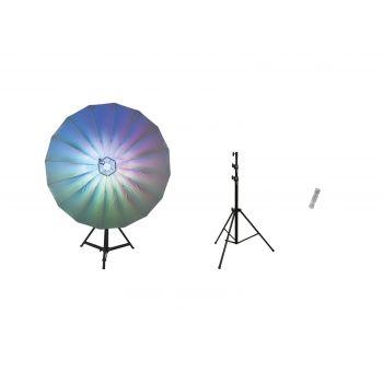 Eurolite Set Paraguas LED 140 + STV-50-WOT EU Soporte + TV-1 TV-Spigot con Rosca M-10