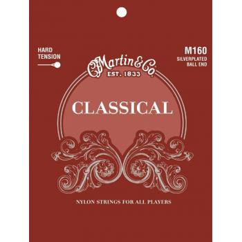 Martin M160 Cuerdas Guitarra Clásica Nylon Classical Clear & Silver Ball End Tensión Alta 28-43