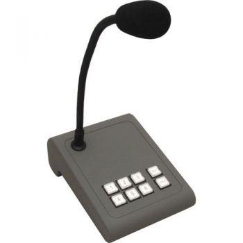 APART MICPAT-6 Microfono de Sobremesa Dinamico Para Avisos en 6 Zonas