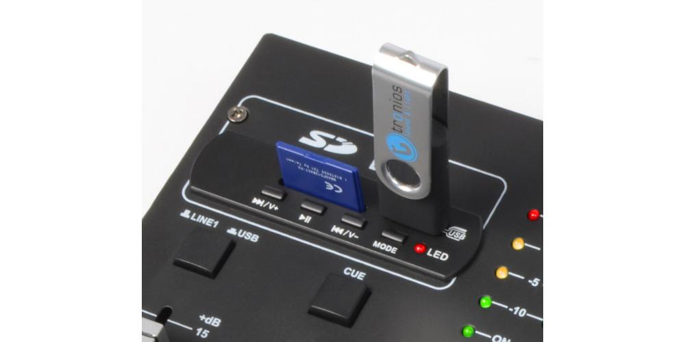 Vonyx STM 2250 Mezclador de 4 canales USB MP3 By Skyrec