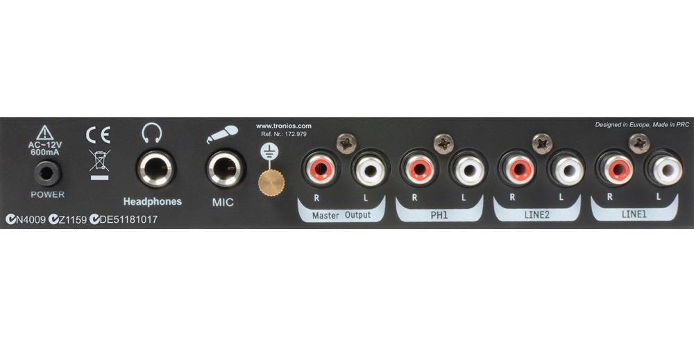 Vonyx STM 2250 Mezclador de 4 canales USB MP3 Negro By Skyrec