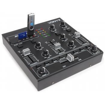 Vonyx STM-2250 Mezclador de 4 canales con USB/MP3 Negro 172979 By Skyrec