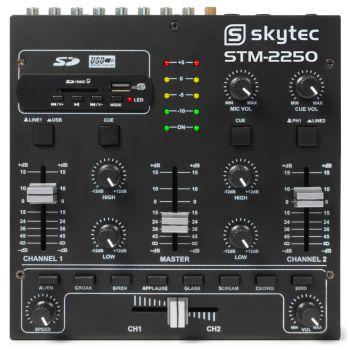 SKYTEC STM-2250 Mezclador de 4 canales con USB/MP3  Negro172979
