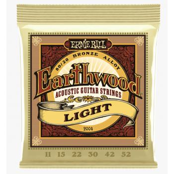 Ernie Ball 2004 Earthwood Bronce Light Cuerdas Para Guitarra Acústica 11-52