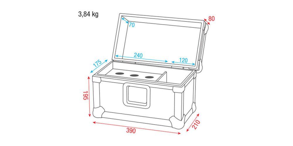 dap audio case 6 micros dimensiones