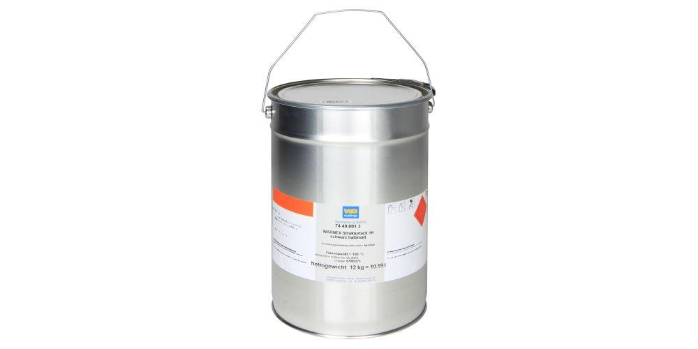 Warnex 013112 Textura pintura Negra 12 kg