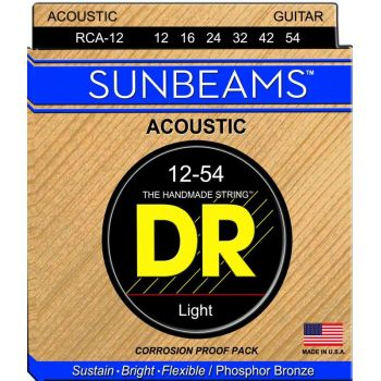 Dr Strings RCA-12 SUNBEAM™ Phosphor Bronze Acoustic 012-054