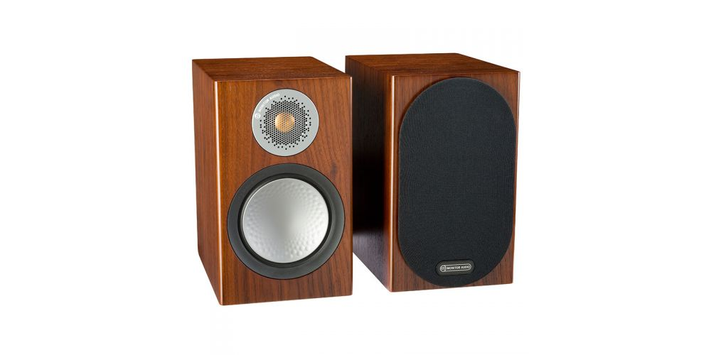 monitor audio silver 50 walnut.